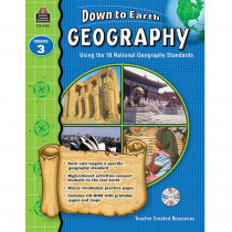 TCR9273 - Down To Earth Geography Gr 3 Book W/Cd in Social Studies