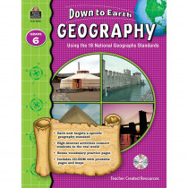 TCR9276 - Down To Earth Geography Gr 6 Book W/Cd in Social Studies