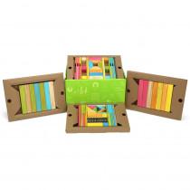 TEG90PTNT608T - 90 Piece Tints Classroom Kit in Blocks & Construction Play