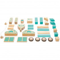 TEGMSSTL1405T - Magnetron Wooden Block Set in Blocks & Construction Play