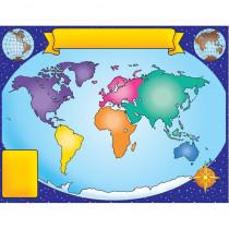 TF-2141 - World Map Friendly Chart 17X22 in Maps & Map Skills