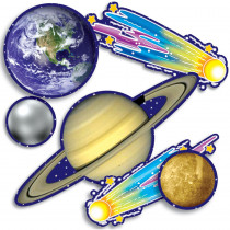 TF-3289 - Accent Punch-Outs Solar System 93 Pcs Mini Bulletin Board Set in Accents