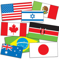 TF-3311 - International Flags Accent Punch Outs in Accents