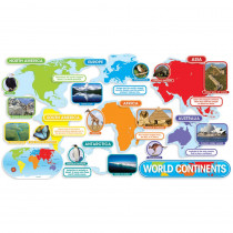 TF-8036 - World Continents Bulletin Board Set in Social Studies