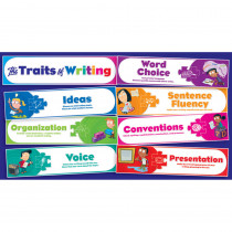 TF-8075 - Traits Of Writing Mini Bulletin Board Set in Language Arts