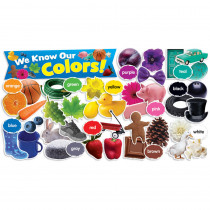 TF-8090 - Colors In Photos Mini Bulletin Board Set in Classroom Theme