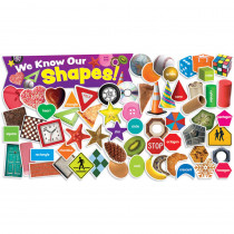 TF-8094 - Shapes In Photos Mini Bulletin Board Set in Classroom Theme
