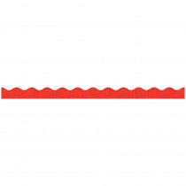 TF-8278 - Red Graphic Pattern Scalloped Trimmer Gr Pk-5 in Border/trimmer