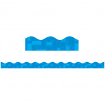 TF-8280 - Blue Graphic Pattern Scalloped Trimmer Gr Pk-5 in Border/trimmer