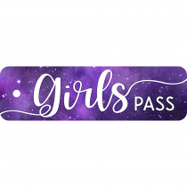 TOP10169 - Plastic Hall Pass Galxy Script Girl in Hall Passes