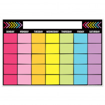 "Magnetic Write & Wipe Calendar Neon Black, 12 x 18"" - TOP10539 