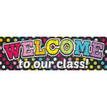 TOP10594 - Magnetic Welcome Banner Neon Chalk Dots in Banners