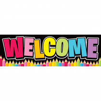 TOP10595 - Magnetic Welcome Banner Neon Black in Banners