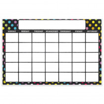 "Magnetic Write & Wipe Calendar Neon Chalk, 12 x 18"" - TOP10604 