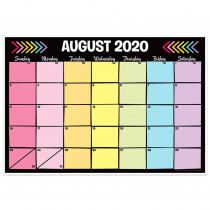 "Neon Black Desk Academic Calendar, August-July, 13 x 19"" - TOP3032 