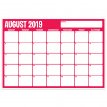 "Six Color Assorted Academic Calendar, August-July, 13 x 19"" - TOP3036 