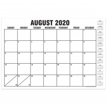 "B&W Basic Academic Calendar with Previews, August-July, 13 x 19"" - TOP3064 