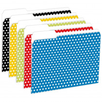 TOP3304 - Designer File Folders Polka Dot in Folders