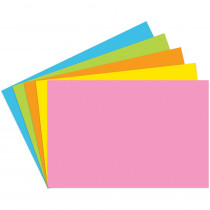TOP361 - Index Cards 4X6 Blank 100 Ct Brite Assorted in Index Cards