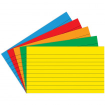 TOP3663 - Border Index Cards 4 X 6 Lined Primary Colors 75Ct in Index Cards