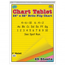 TOP3821 - Chart Tablets 24X32 Assorted Ruled in Chart Tablets