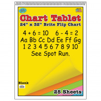 TOP3822 - Chart Tablets 24X32 Assorted Blank in Chart Tablets