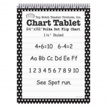 TOP3849 - Polka Dot Chart Tablet Black 1.5 Ruled in Chart Tablets