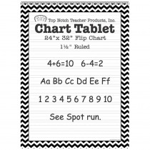 TOP3855 - Black Chevron Border Chart Tablet 24X32 1 1/2In Ruled in General