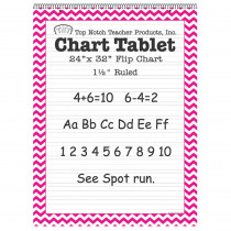 TOP3857 - Pink Chevron Border Chart Tablet 24X32 1 1/2In Ruled in General