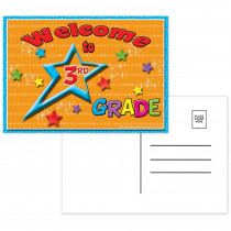 TOP5119 - Postcards Welcome To 3Rd Grade in Postcards & Pads