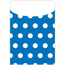 TOP6432 - Brite Pockets Blu Polka Dots 35/Bag in Folders