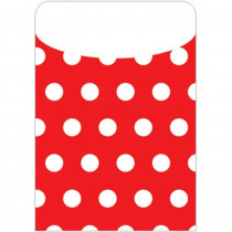 TOP6433 - Brite Pockets Red Polka Dots 35/Bag in Folders