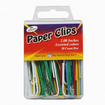 TPG238 - Jumbo Paper Clip Assorted Colors 2.0 30 Pc Box in Clips