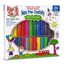 TPG604 - Kwik Stix 24 Pack 12 Classic 6 Neon And 6 Metallic Colors in Paint