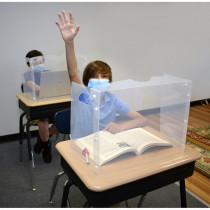 Personal Space Desk Dividers, Middle-High School, Frosted, Single - TPG989 | The Pencil Grip | Wall Screens