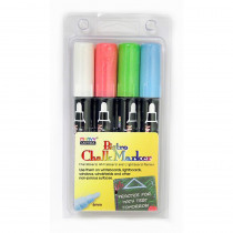 UCH4804ED - Bistro Chalk Markers Brd Tip 4 Clr Set White Red Blue Green in Markers
