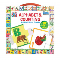 The World of Eric Carle Alphabet & Counting 2-Sided Floor Puzzle - UG-33835 | University Games | Floor Puzzles