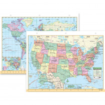 UNI15024 - Us & World Notebook Map 8-1/2 X 11 in Maps & Map Skills