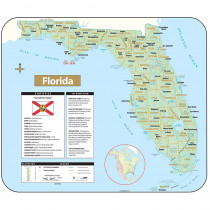 UNI28378 - Shaded Relief Map Rolled Florida in Maps & Map Skills