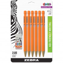 ZEB52816 - 2 Hb 2Mm Mech Pencil 6Pk 1 Eraser Starters in General