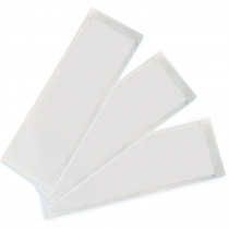 ASH10401 - Xsmall Name Plate 3 1/4X10 1/2 25Pk Clear View Self Adhesive Pockets in Name Plates