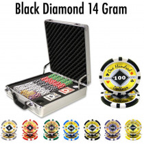 Black Diamond 14 Gram 500pc Poker Chip Set w/Claysmith Aluminum Casel