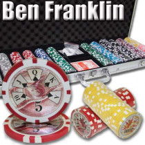 Ben Franklin 14 Gram 600pc Poker Chip Set w/Aluminum Case