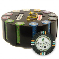 Bluff Canyon 300pc Poker Chip Set w/Wooden Carousel