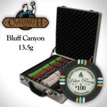 Bluff Canyon 500pc Poker Chip Set w/Claysmith Aluminum Case