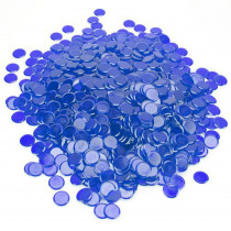 1000 Pack Blue Bingo Marker Chips
