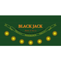 Casino Quality Blackjack Sublimation Table Felt
