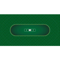 Casino Quality Sublimation Green Hold'Em Poker Table Felt