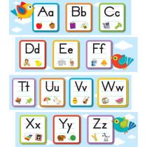 Boho Birds Alphabet Mini Bulletin Board Set