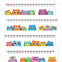 Colorful Owls Number Line Mini Bulletin Board Set